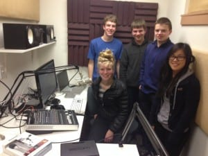 Charlie Hanacek (President) and other members of the Bainbridge High School Radio Club
