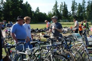The Rotary Auction and Rummage Sale is a great place to recycle an outgrown bicycle or pick up a bargain on a choice bike.