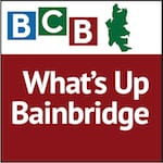 Logo for podcast show What's Up on Bainbridge Island