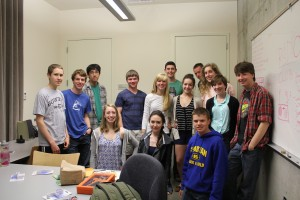 Members of the BCB-supported Bainbridge High School Radio Club.