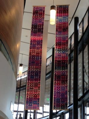 "The artist's premier work, ""Dugay Na"" is a monumental piece now hanging in the BIMA lobby"