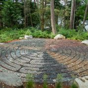 The labyrinth at the park nestled above Blakely Harbor on Bainbridge Island