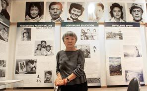 Lilly Kodama at the Bainbridge Island Historical Museum