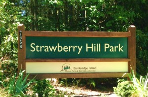 Entrance to Strawberry Hill Park