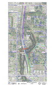 Click on image to enlarge this project map of the Sound to Olympic Trail from Winslow Way to High School Rd