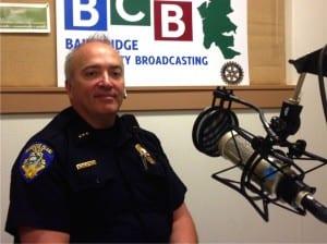 Bainbridge Island Police Chief Matt Hamner was sworn in as the City's new chief 15 months ago.