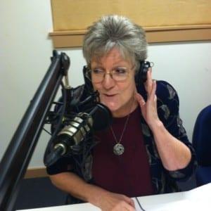 At BCB's studio, Sue Barrington, Director of Bainbridge Island Senior Community Center, and member of BI Park and Recreation District staff.