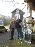Tressa Johnson and John Fossett at the History Museum