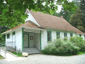 Historic Seabold Hall, formerly a one-room schoolhouse, has excellent acoustics for once-a-month musical performances.