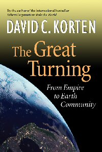 David's public talk at BPA, about his April 2006 book, The Great Turning, was the founding event for Sustainable Bainbridge