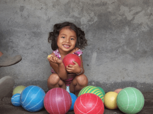 This photo of an Ometepe girl with balls will be one of the 30 photos at the July 4th exhibit