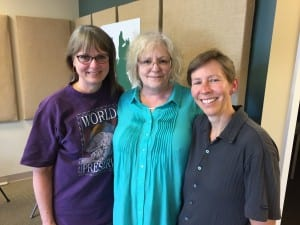 Included in this podcast are (from left) Leslie Schneider, Barbara Sacerdote and Beth Robson.