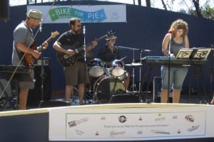 Live music will greet you back at Waterfront Park after your Sunday morning bike ride.