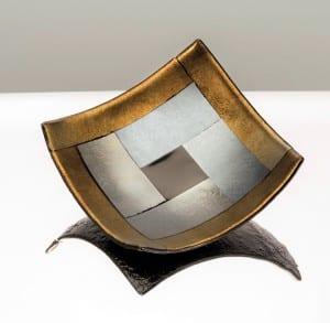 John Keppeler, gold-irid tile glass plate