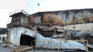 Chelan Fruit Processing Plant was destroyed by fires.