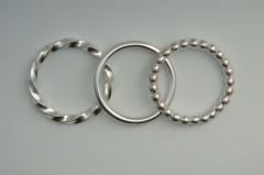 Stack rings, of the type that Julia Lowther will teach about
