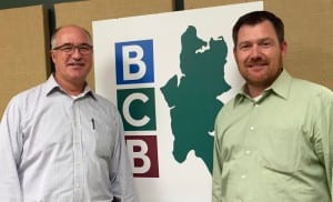 Scott Isenman (left) and Tim Carey at the BCB studios on October 12th