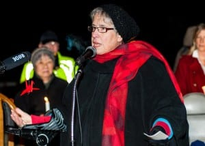 A passionate organizer of the ceremony, Marsha Cutting (Photo Credit David W Cohen)