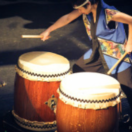 (Photo Credit: Seattle Kokon Taiko drummers)