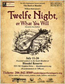 <i>Podcast: What's Up Bainbridge:</i> <br/>Shakespeare's comedy Twelfth Night plays on July evenings at Bloedel