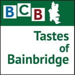 Logo for podcast show Tastes of Bainbridge Island