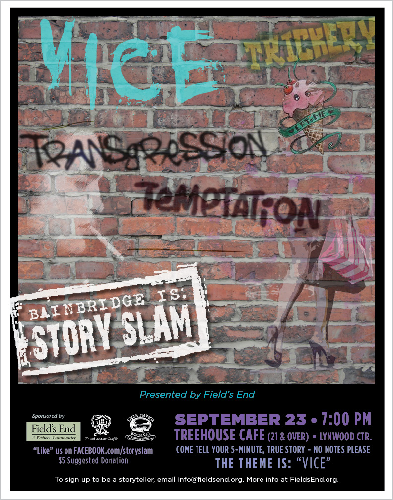 <i>Podcast: What's Up Bainbridge:</i> <br>4th Annual Field's End Story Slam at Treehouse Cafe September 23