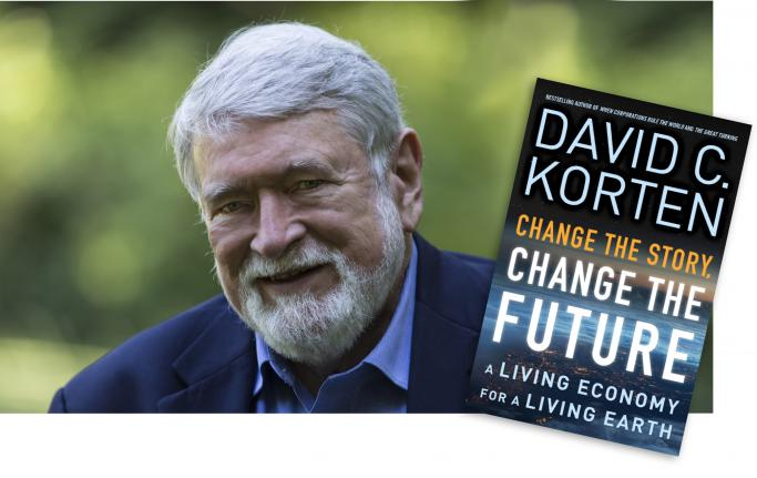 <i>Podcast: Community Cafe:</i> <br>World-renowned author David Korten speaks to the Bainbridge community
