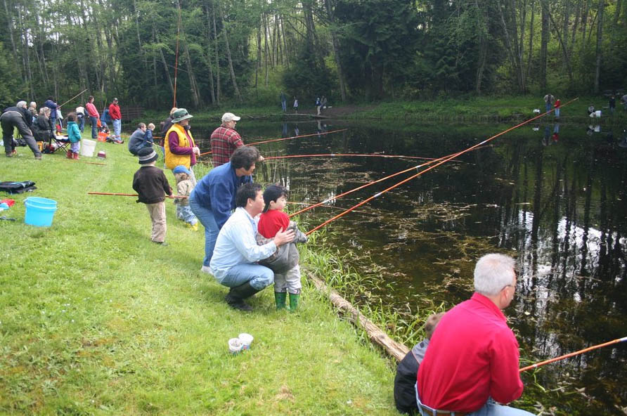 <i>Podcast: What's Up Bainbridge: </i><br>Family Fun at the Fish Derby April 25 at Sportsmen's Club Pond