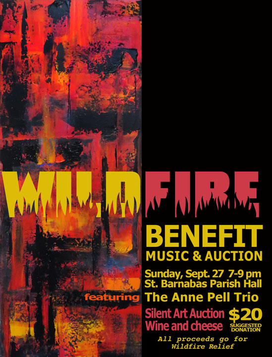 <i>Podcast: What's Up Bainbridge:</i> <br>Wildfire Benefit at St. Barnabas Sunday Sept 27, 7-9 pm