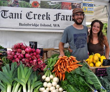 <i>Podcast: Tastes of Bainbridge</i> <br>Farmers Market with Brian MacWhorter and Tani Creek Farm