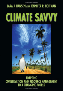 "Lara Hansen is the co-author of ""Climate Savvy"""