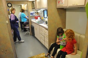 Dental care is delivered - among other places - in the Smile Partners mobile unit.