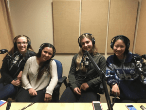 2016 BHS Girls Lacrosse captains (from left) Amy Willerford, Sonia Olson, Katie Usellis, and Robin Hilderman sit down for an interview with BCB. (Photo credit Charlie Hanacek)