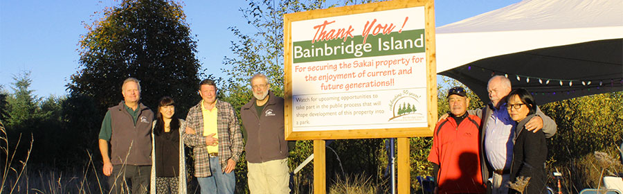 <i>Podcast: What's Up Bainbridge:</i> <br>Parks District welcomes your ideas for Sakai park on Saturday Jan 23rd