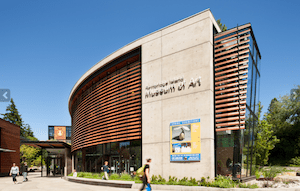 Bainbridge Island Museum of Art, a candidate for green-built LEED NC Gold certification, was designed by Matthew Coates. Click image to enlarge. Photo Credit: Coates Design.