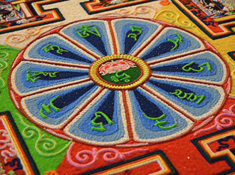Example of a sand mandala. Photo credit: Gaden Shartse College