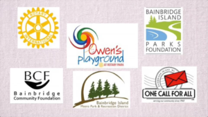 This is a small representation of the dozens of organizations that contributed to the Owen's Playground project