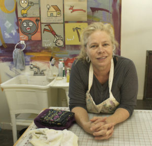 Author and artist Jane Dunnewold (Photo credit: Jane Dunnewold Studios)