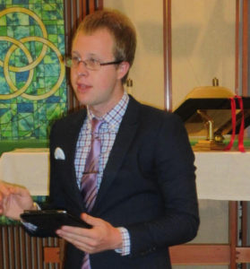 Pastor Colin Cushman of Seabold United Methodist Church
