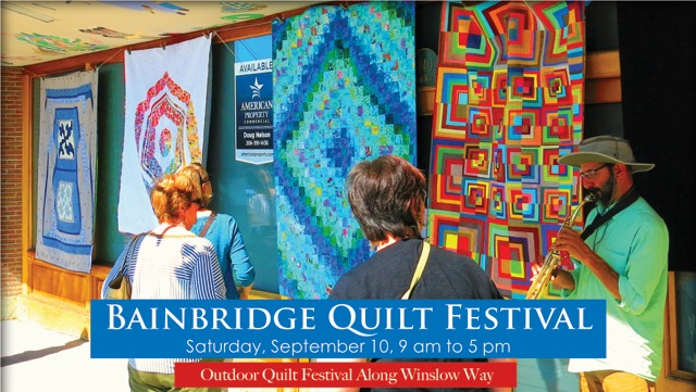 <i>Podcast: What's Up Bainbridge: </i><br>4th Annual Bainbridge Quilt Festival Airs September 10 on Winslow Way