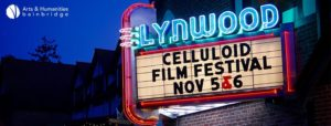 Lynwood Theater marquee with Celluloid