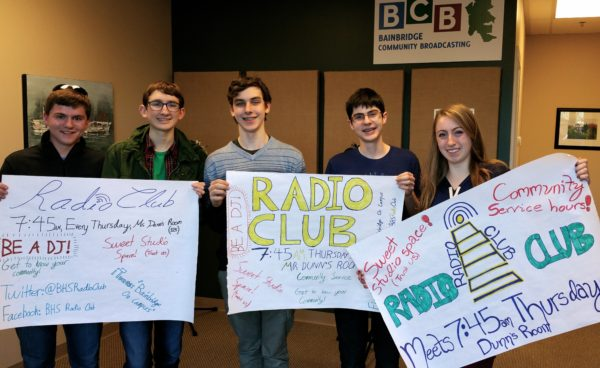 Just at BARN is intent on attracting high school students, here are members of the BHS Radio Club that worked with BCB in 2015-16.