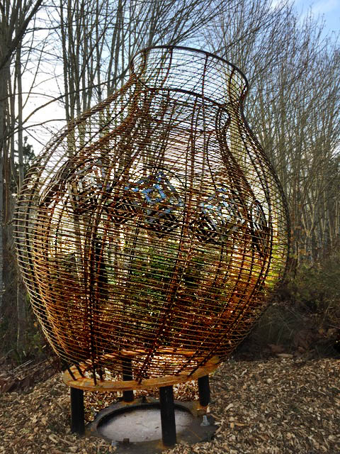 "<i>Podcast: Arts and Artists: <br>Community Artists Series:</i> <br>Public art returns to Bainbridge with ""Tribute Baskets"" at the Waypoint"