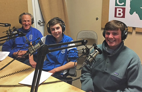 Student guests in the BCB podcast studio