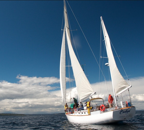 <i>Podcast: What's Up Bainbridge: </i><br>Sail in the 61-foot Carlyn this Saturday with Salish Sea Expeditions