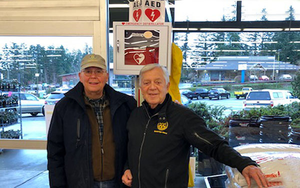The heartwarming story behind the Bainbridge Island Rotary's defibrillator grant