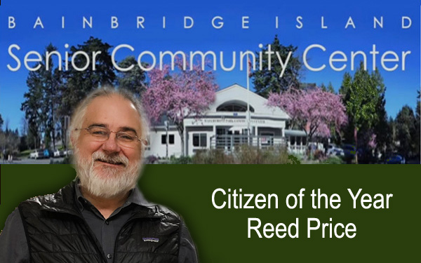 Bainbridge Island City Council's 2018 Citizen of the Year, Reed Price