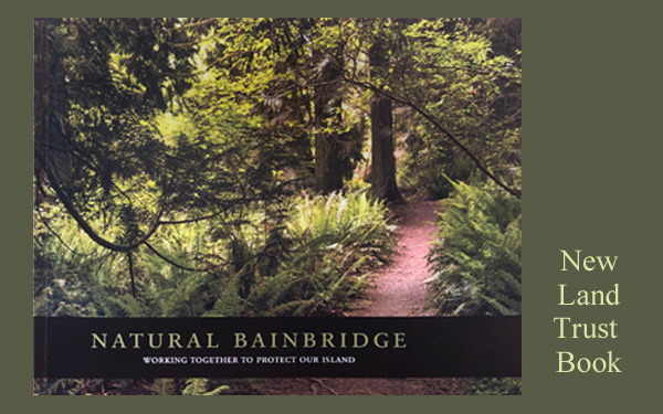 Artwork from the new Land Trust Book at the Bainbridge Library