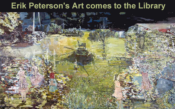 Erik Peterson's art at the Library for December