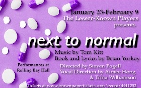 Award-winning musical, Next to Normal, opens January 24 at Rolling Bay